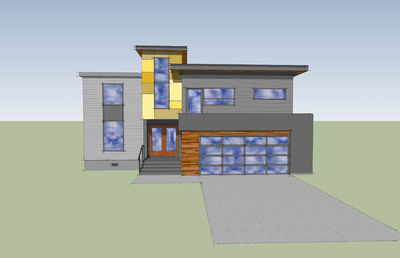 Modern with Big Family Room - 84900SP thumb - 02