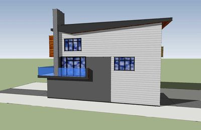 Narrow Lot Contemporary Home Plan - 84903SP thumb - 03