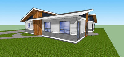 Low Slung Courtyard Contemporary - 84906SP thumb - 04