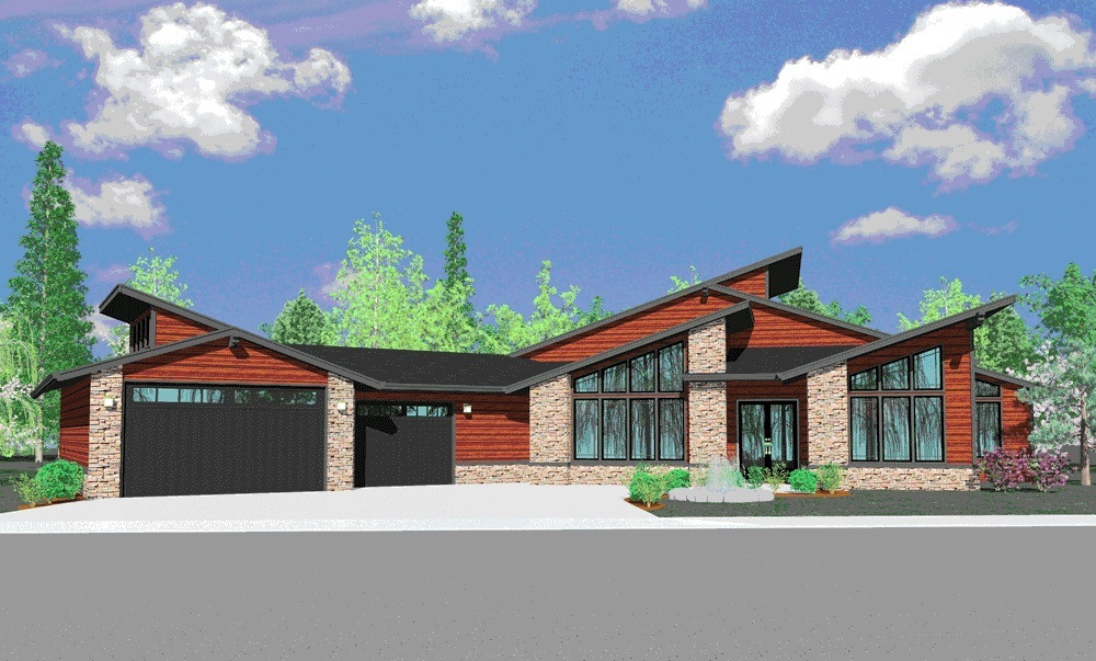 State of the art contemporary masterpiece 85000ms 1st for Northwest home plans