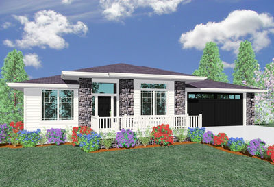 Prairie Retreat Perfect for Sloping Lot - 85013MS thumb - 01