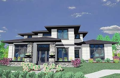 Prairie style house plan 85014ms 2nd floor master for Prairie house designs