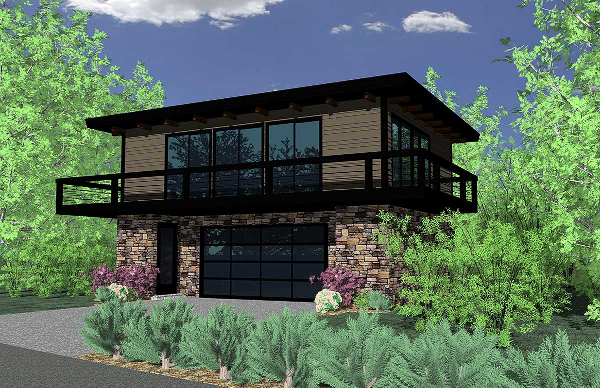 Petite Contemporary Home Plan - 85019MS