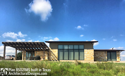 Modern House Plan 80521MS comes to life in Texas! - photo 001