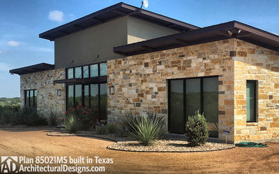 Modern House Plan 80521MS comes to life in Texas! - photo 006