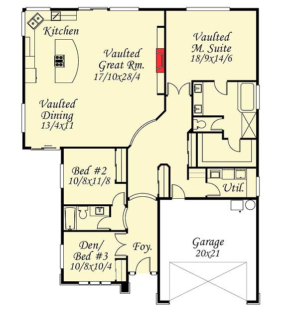 2 Or 3 Bedroom Prairie Ranch Home Plan 85035ms