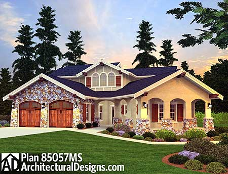 3 bed tuscan beauty with casita 85057ms 1st floor for Tuscan home plans with casitas