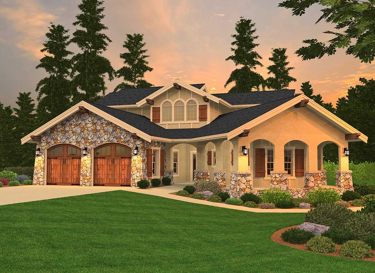 3 bed tuscan beauty with casita 85057ms architectural for Casita house plans