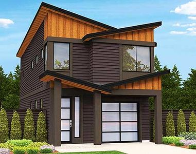 Narrow Lot Modern House Plan - 85099MS | Architectural ...