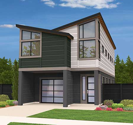 Two story contemporary house plan 85100ms for Modern loft house plans