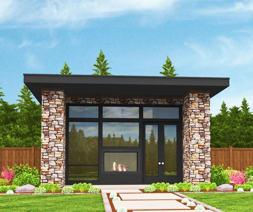 Tiny Modern House Plan With Lanai 85105ms 1st Floor