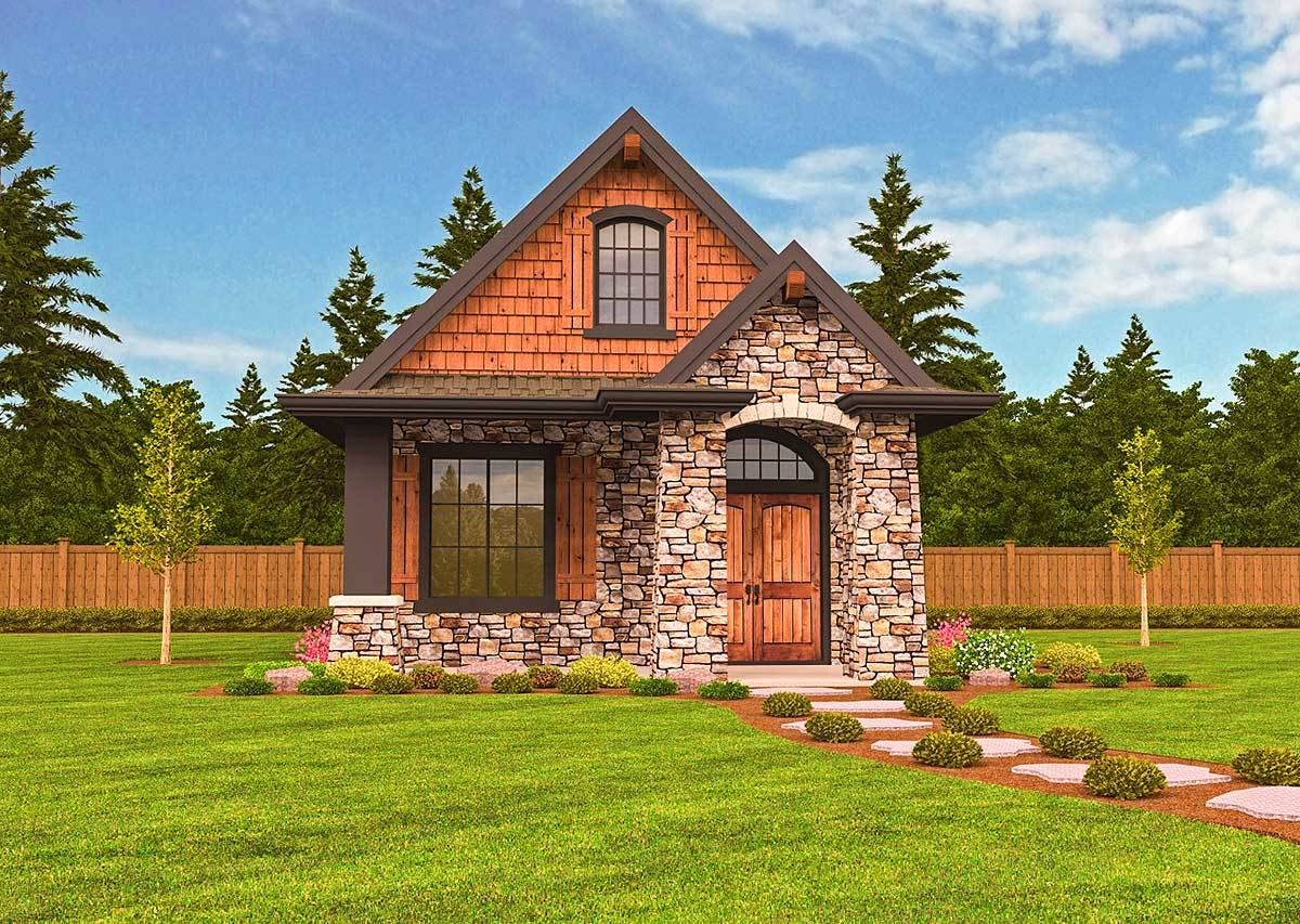 Rustic guest cottage or vacation getaway 85107ms for Cottage guest house plans