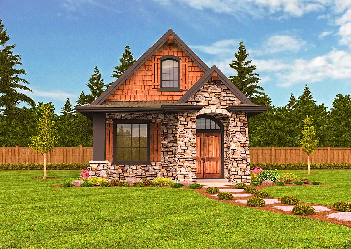 Small Home Plans: Rustic Guest Cottage Or Vacation Getaway