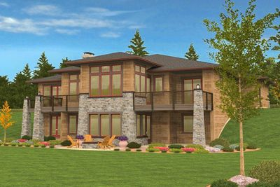 4 bed prairie ranch home with walkout basement 85126ms for Ranch home with walkout basement plans