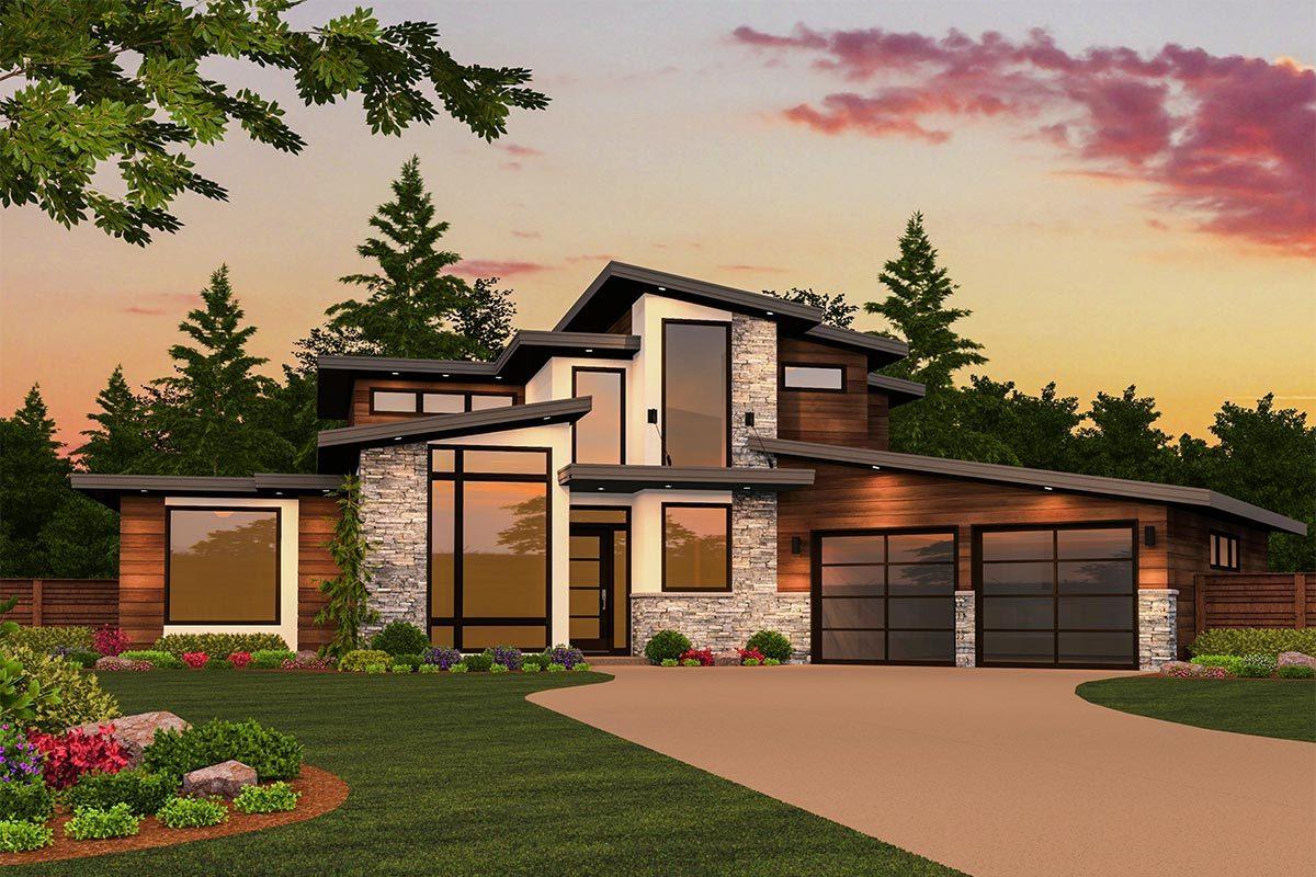 Modern Home Architecture Blueprints modern plans - architectural designs