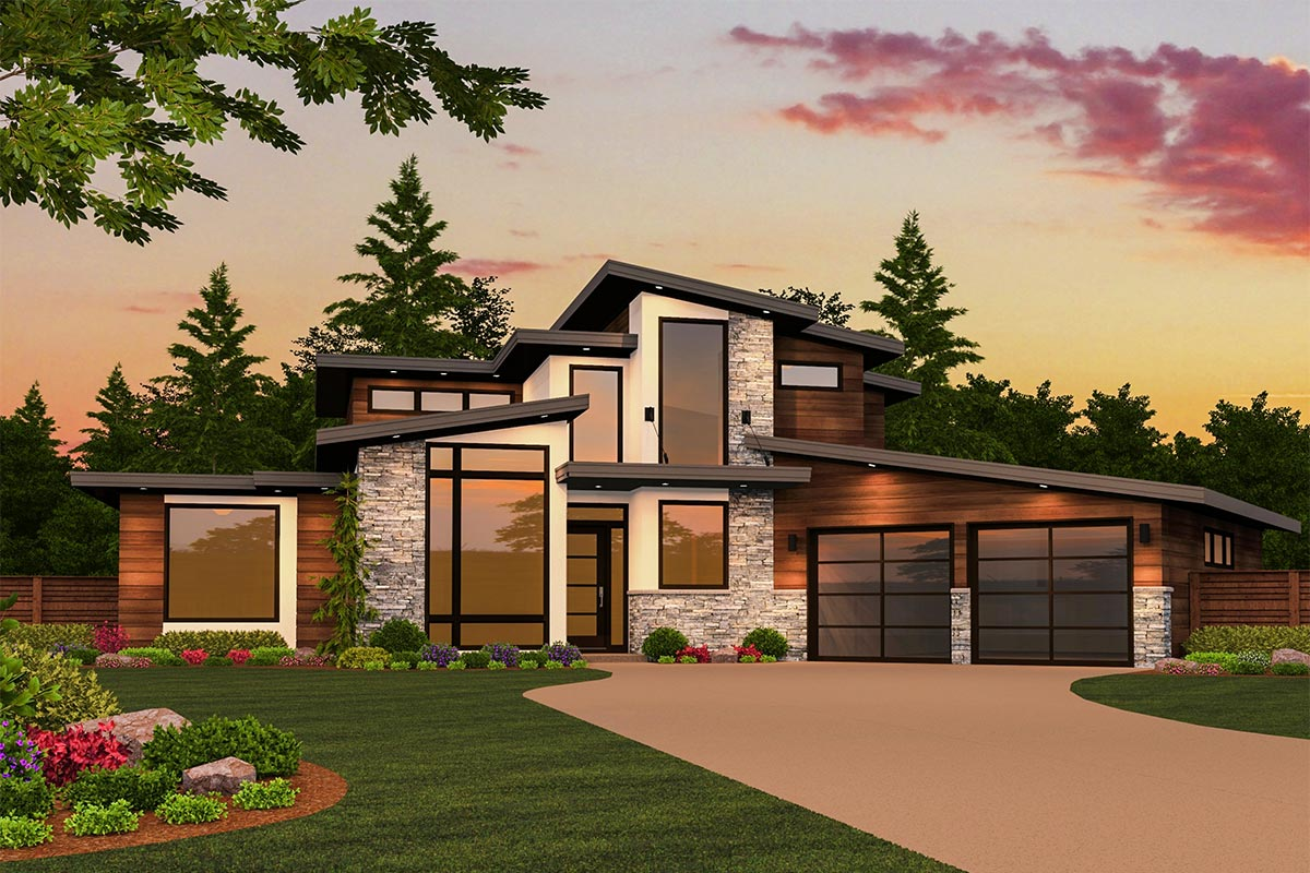 Modern masterpiece with up to 5 beds 85130ms 1st floor for Northwest style house plans