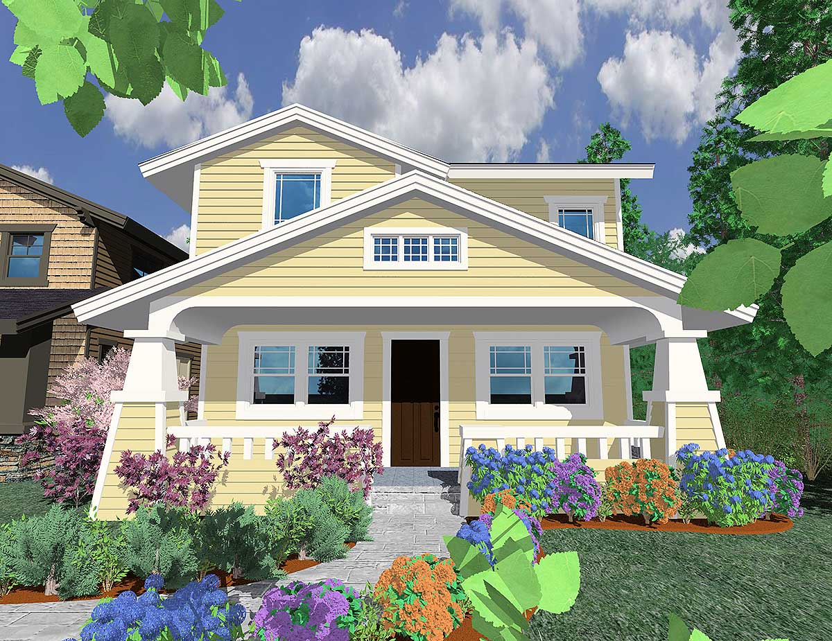 icf home designs%0A Cute Bungalow     MS Architectural Designs House Plans