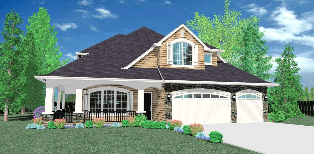 Corner lot home plan 8579ms 2nd floor master suite Corner lot home designs