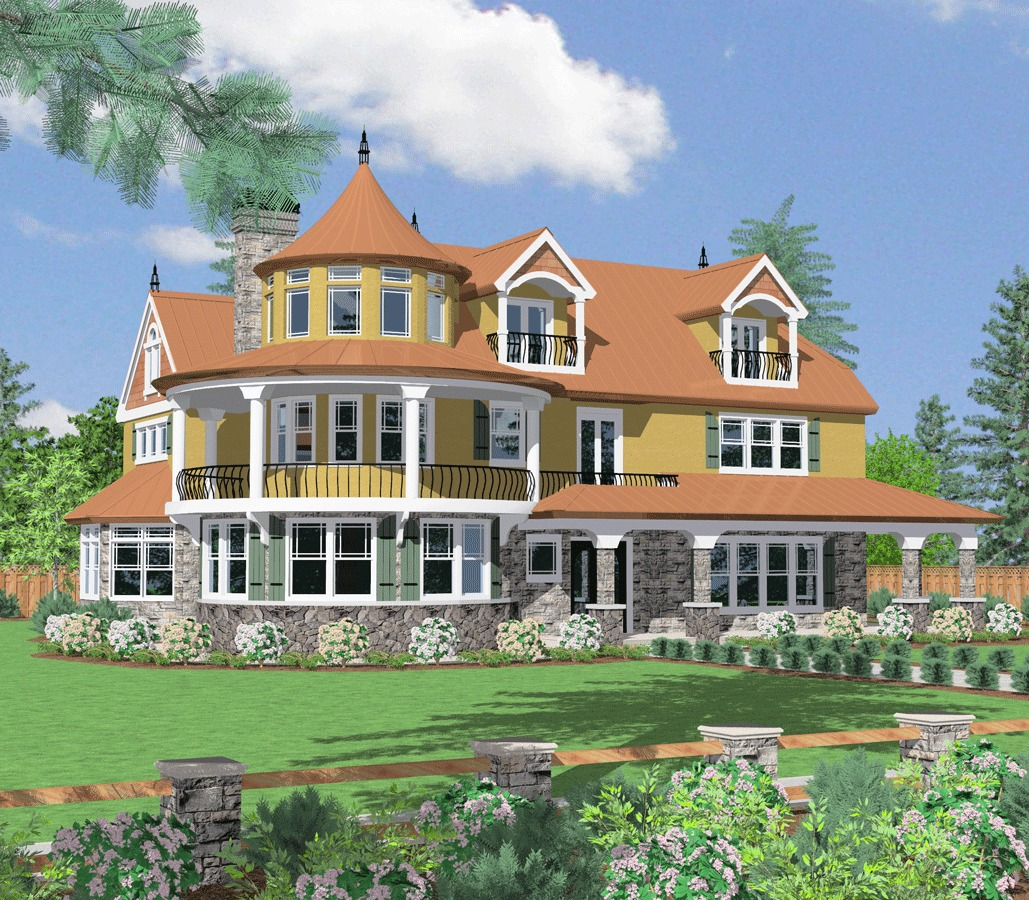 Architectural designs for 3 story victorian house