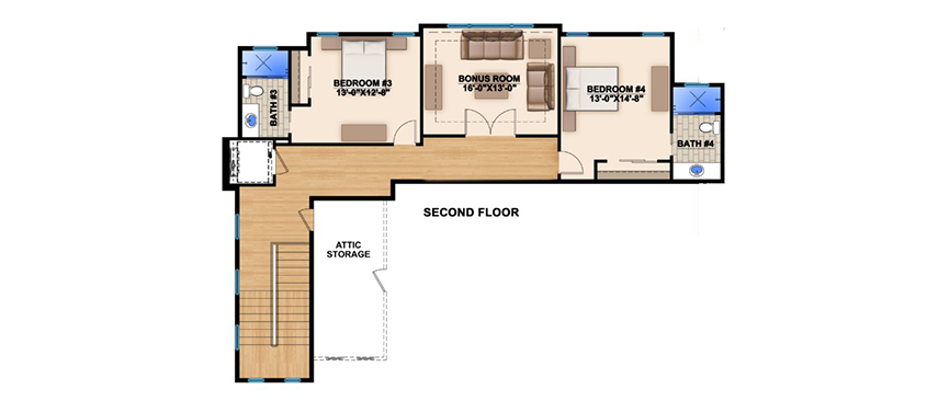 Fully open floor plan 86006bw architectural designs for Completely open floor plans