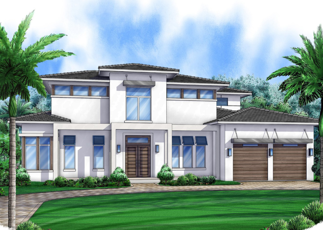 Florida House Plan With Outdoor Oasis 86007bw 1st