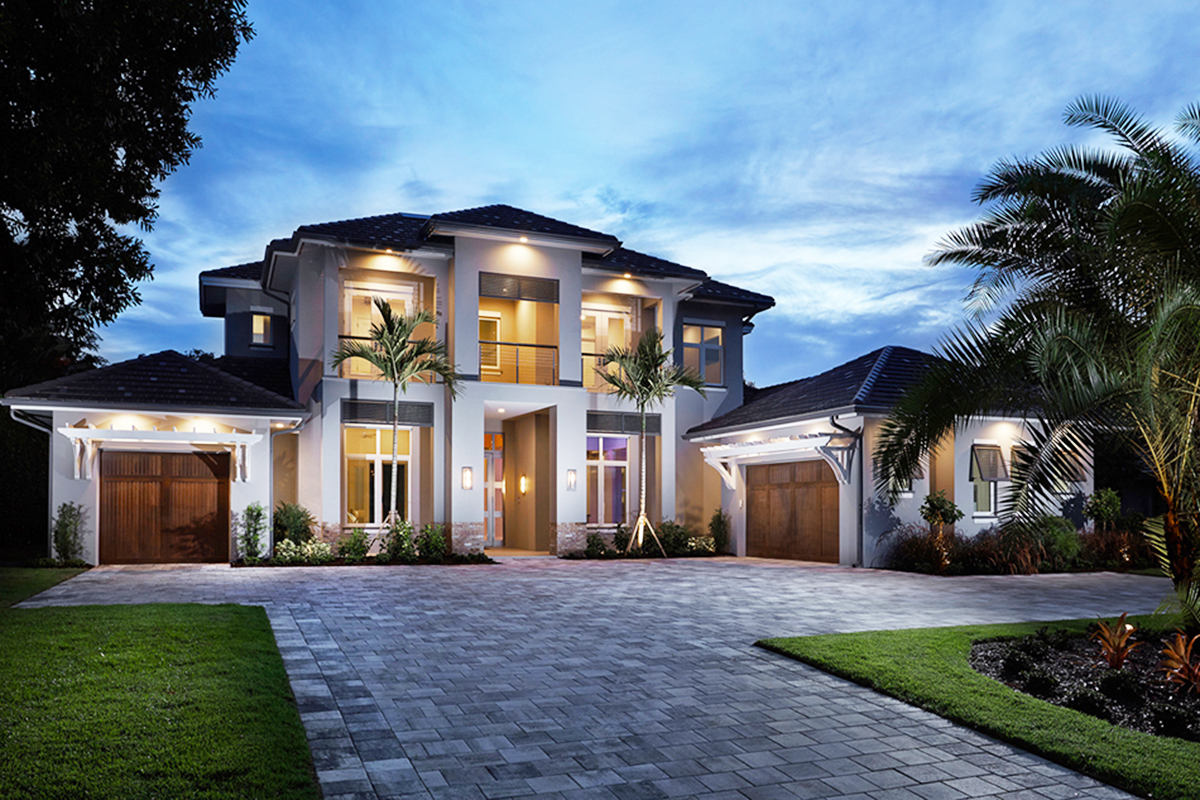 Home Design 3d Front Elevation House Design: Spacious Florida House Plan With Rec Room