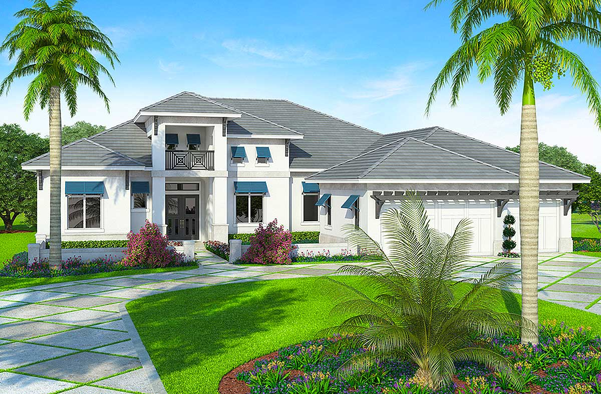 Spacious Florida House Plan - 86019BW | Architectural ...