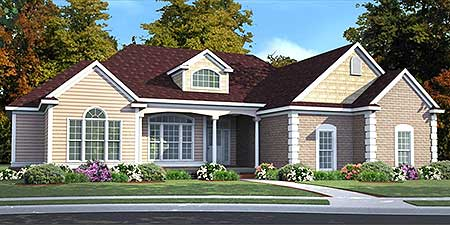 One story living with walkout basement 86200hh for 1 5 story house plans with walkout basement