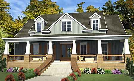 Deep Porches Front And Back - 86215HH | Architectural Designs ...