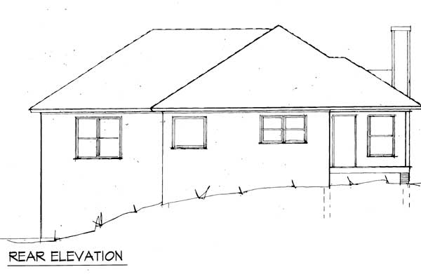 Compact home plan for sloping lot 8728gm 1st floor for Drive under garage house plans