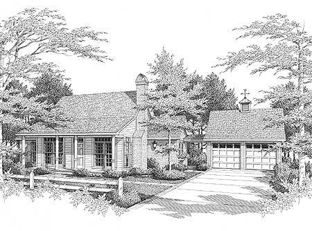 Starter or empty nester 8749gm architectural designs for Small empty nester home plans
