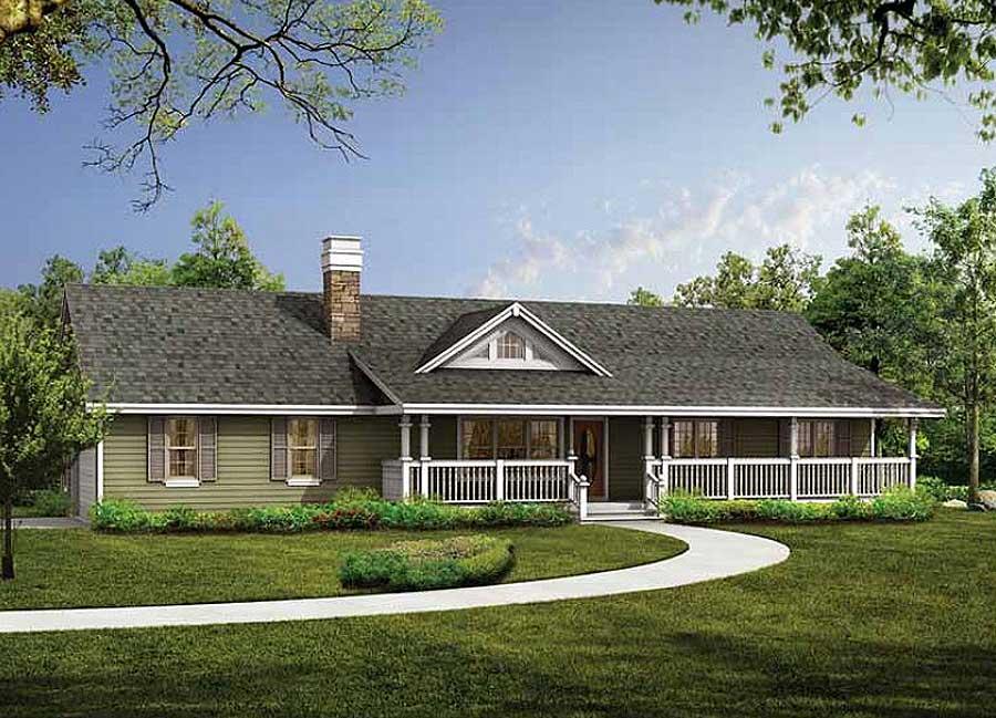 A sense of spaciousness 88136sh architectural designs for Prefab eyebrow dormer
