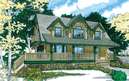 Distinctive sloping lot vacation home plan 88189sh for Vacation house plans sloped lot