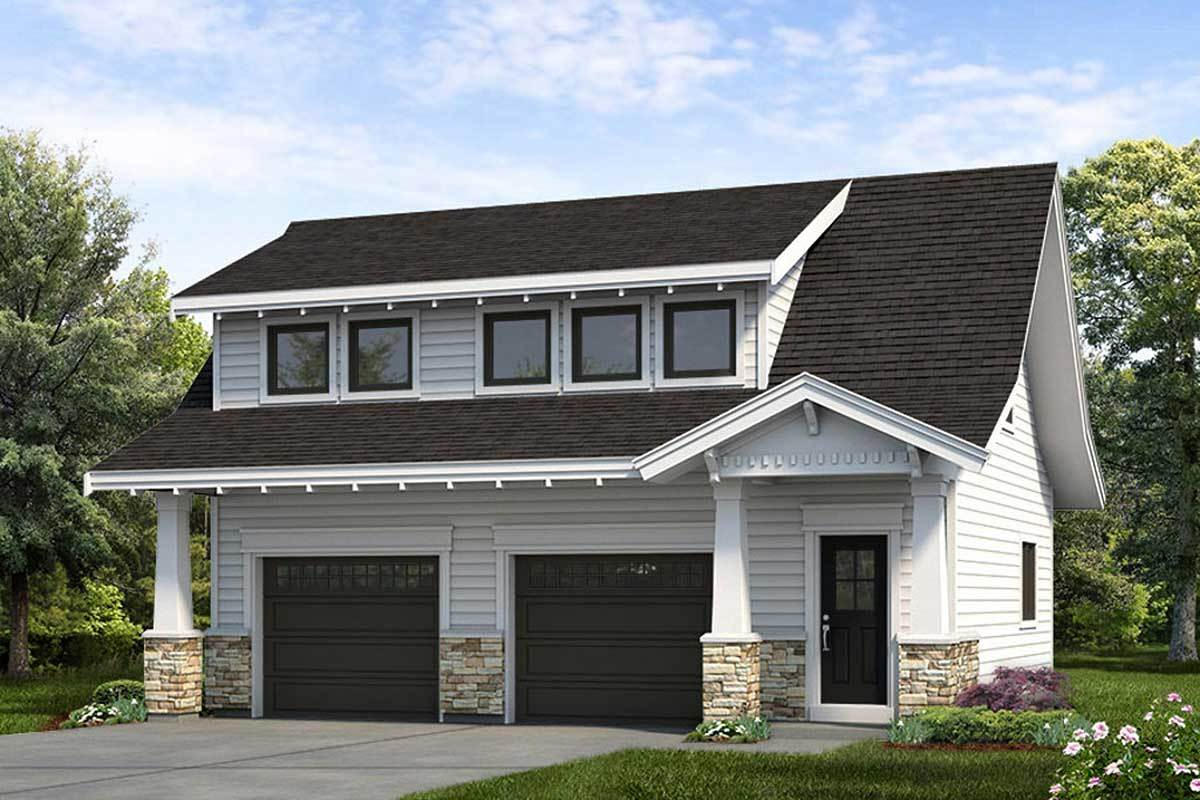 Craftsman Carriage House Plan - 88335SH