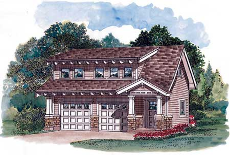 Craftsman carriage house plan 88335sh 2nd floor master for Craftsman carriage house plans