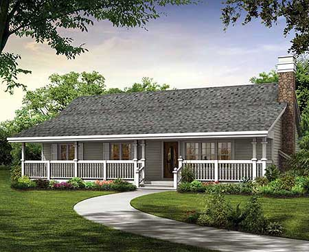 Simple Country Cottage - 88442SH | Architectural Designs ...
