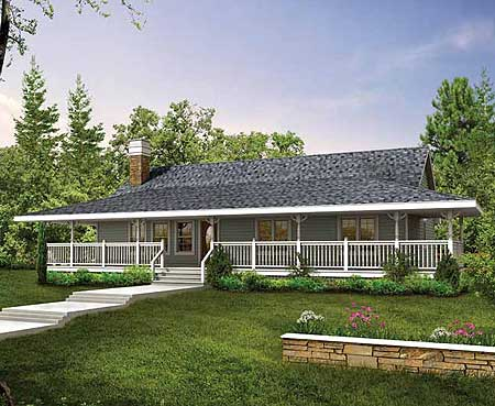 Wrap Around Porch SH 1st Floor Master Suite CAD Available Country Farmhouse PDF Ranch Wrap Around Porch