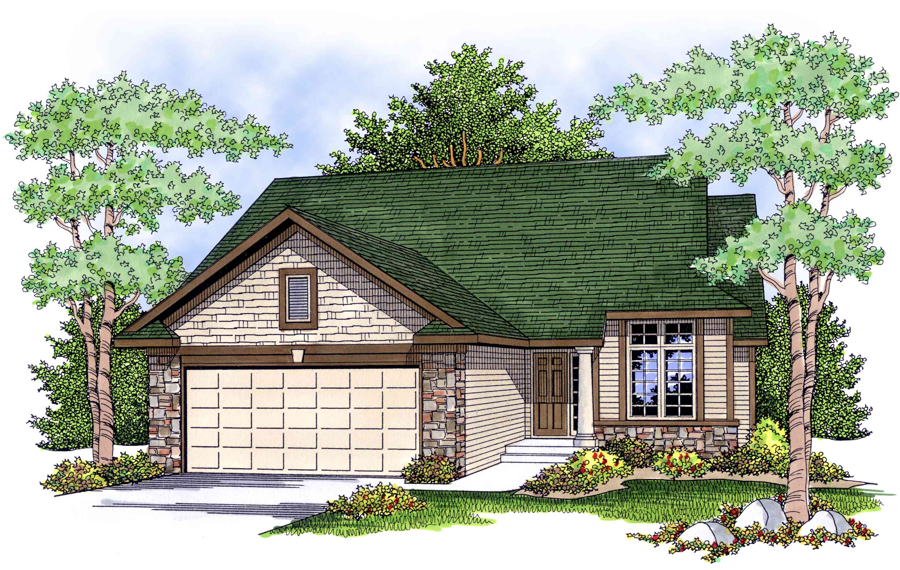 Economical and easy to build ranch house plan 89007ah for Easy to build house plans