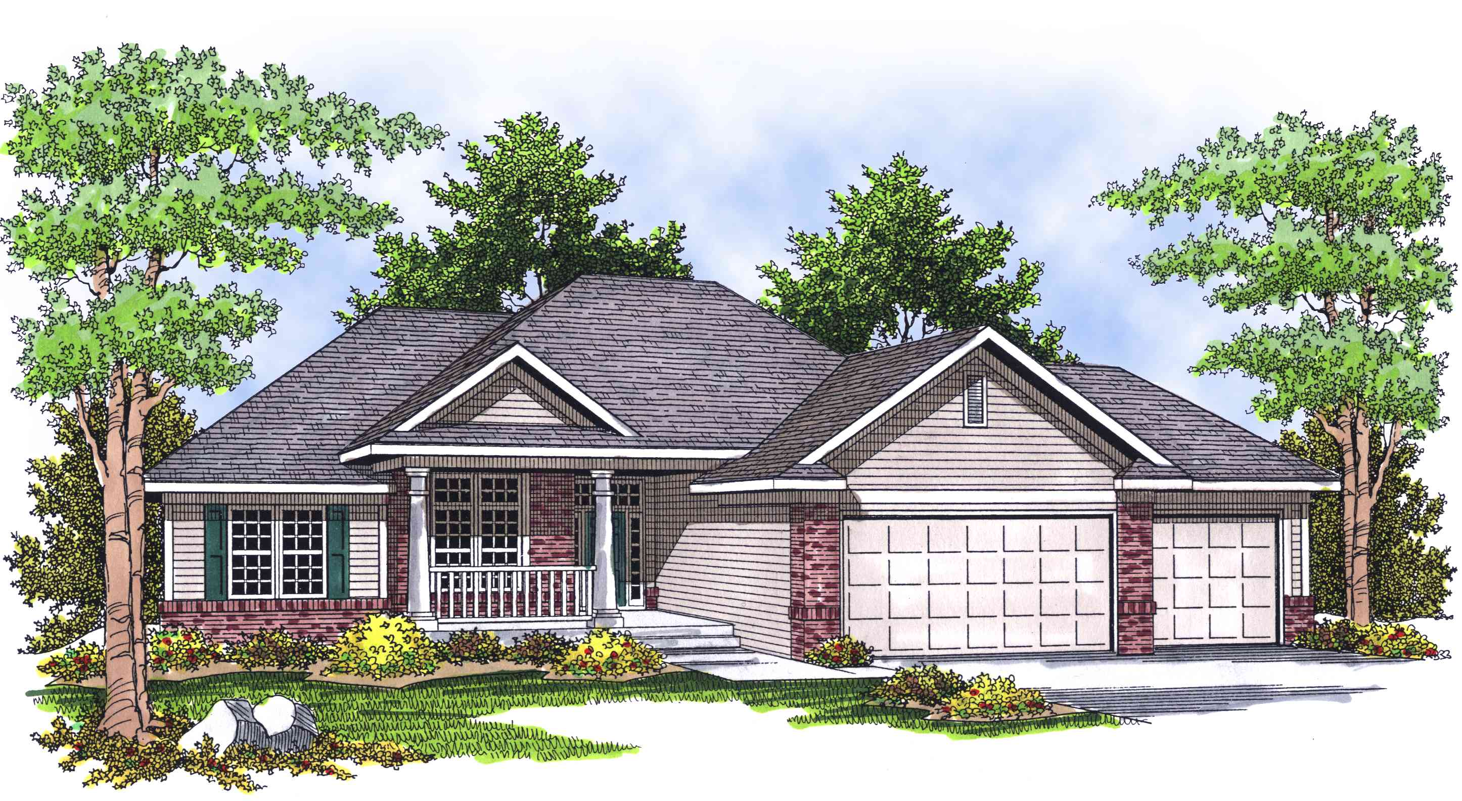 Traditional ranch home plan 89013ah architectural for Traditional ranch house