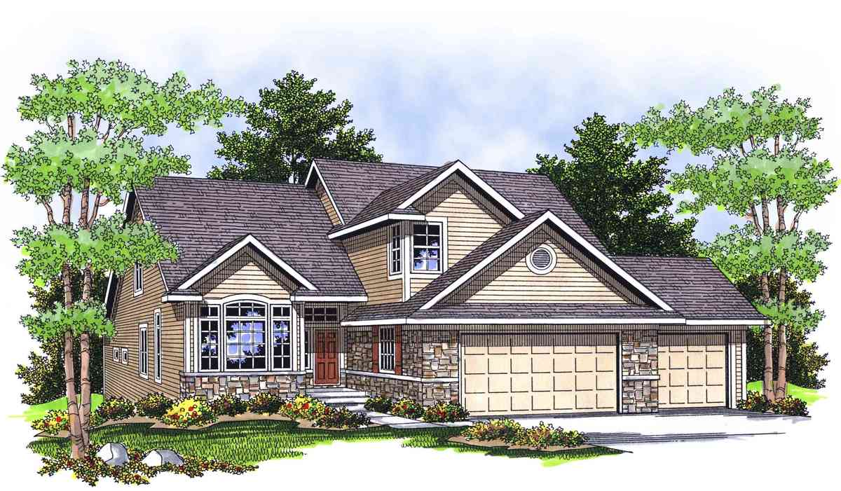 Classic ranch with stone and brick accents 89018ah for Classic ranch home plans