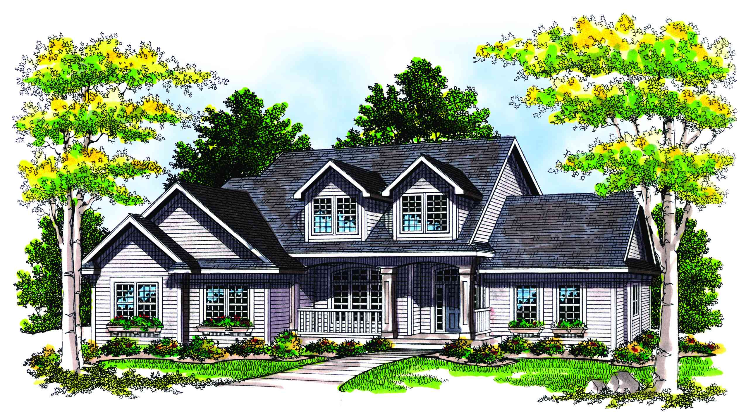 Two story plan with a side load garage 8902ah 1st for Corner lot house plans with side load garage