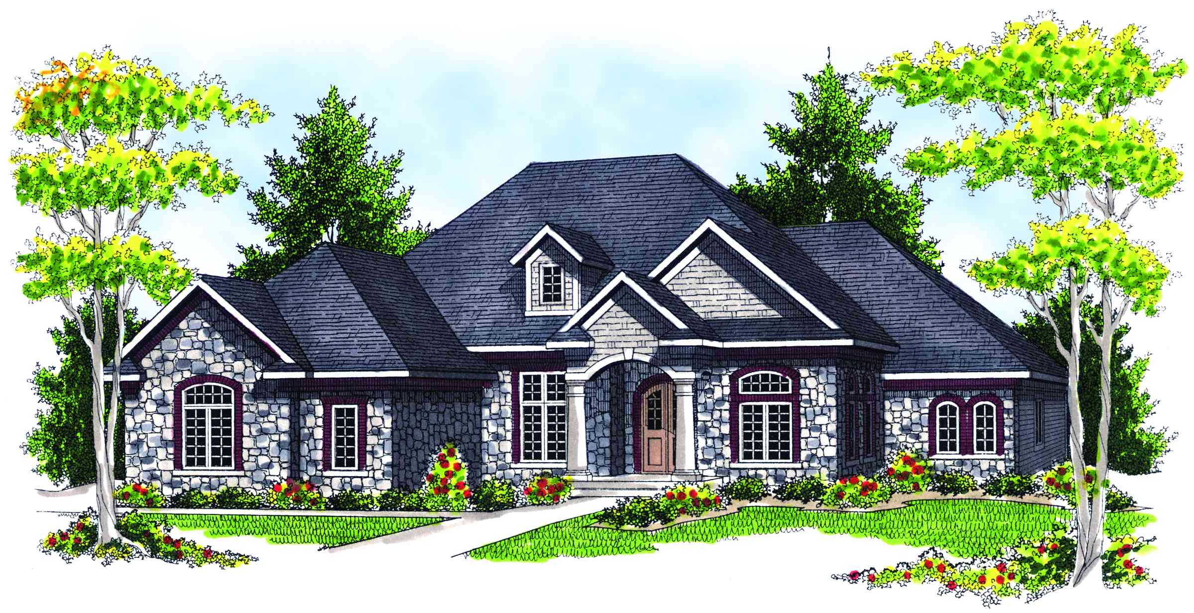 contemporary french country ranch house plans 0 with design ideas