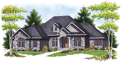 French Country House Plan - 89033AH thumb - 01