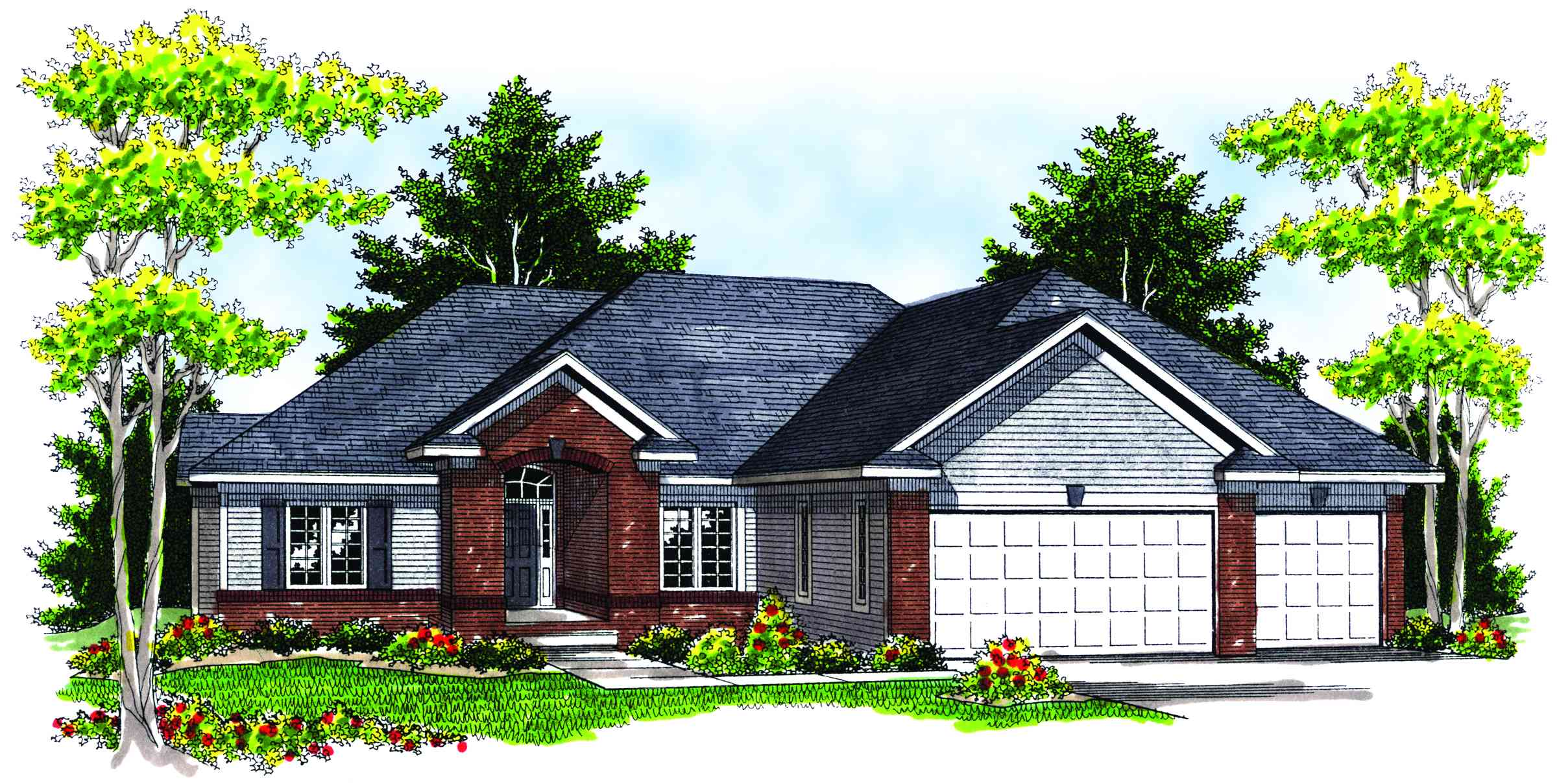 Brick Detailing And Hip Roof Lines 89039ah