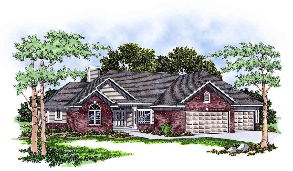 Traditional ranch home plan 8909ah architectural for Traditional ranch home plans