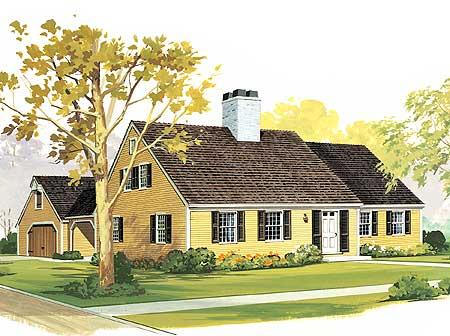 Starter or retirement home plan 0891w 2nd floor master for Retirement house plans