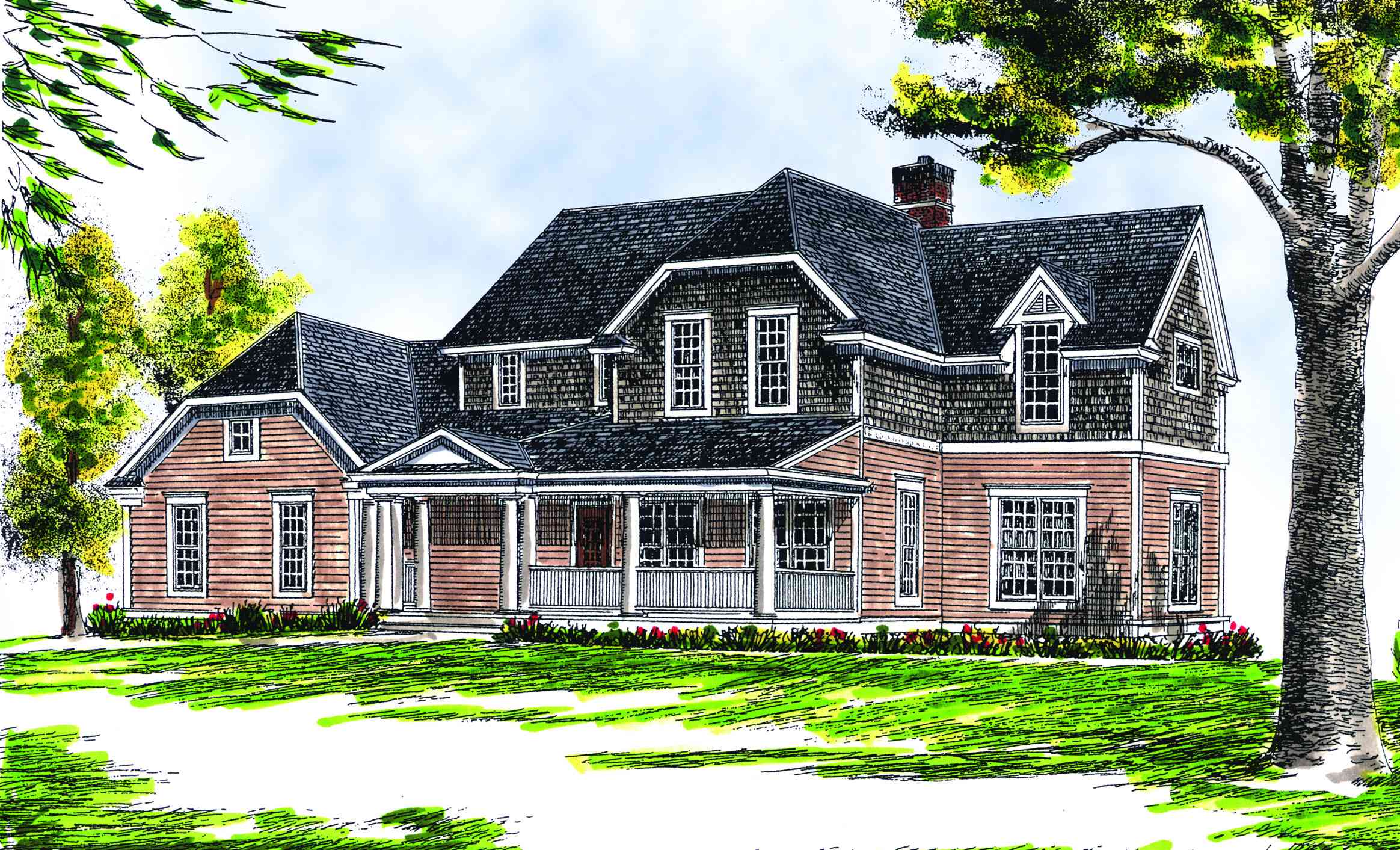 Four bedroom farmhouse plan 89112ah architectural for Architectural designs farmhouse