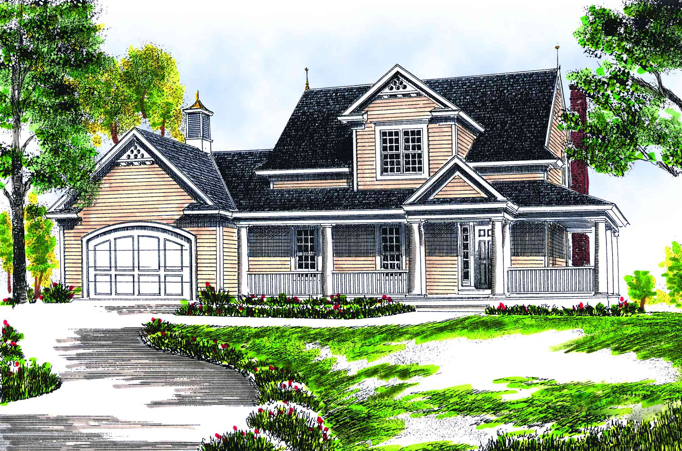 Farmhouse comfort 89117ah architectural designs house plans Home design and comfort