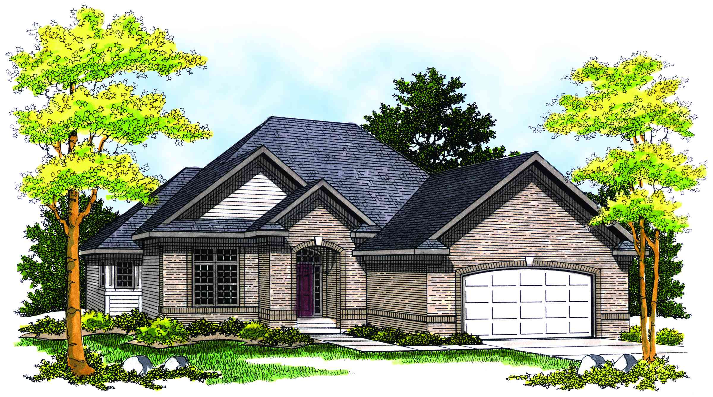 Charming ranch style home plan 89120ah 1st floor for Charming house plans
