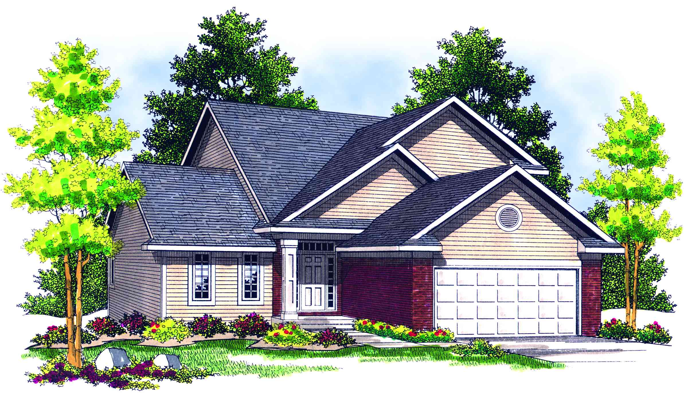 Cozy two story home plan 89127ah 1st floor master for Cozy home plans
